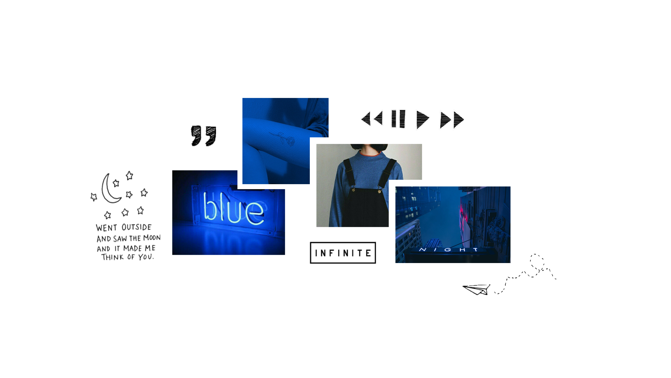 Freetoedit Blue Fluo Aesthetic Header Twitterpack Colla