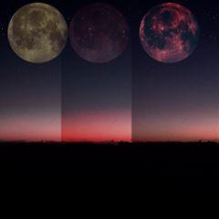 moon fullmoon space night holga