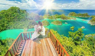 freetoedit couple bride rajaampat indonesia