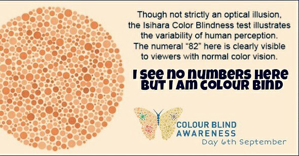 Being as I'm colourblind myself I thought I would post this #colourblindnessawarenessday