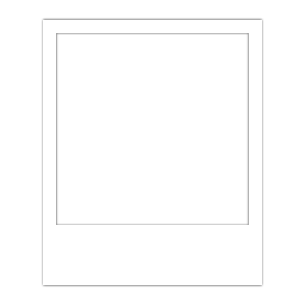 polaroid frame template overlay transparent
