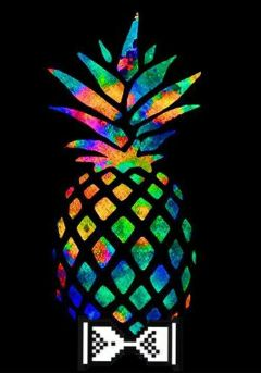 freetoedit pineapple colourful