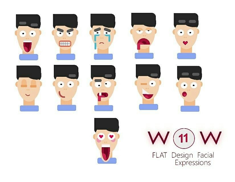 #flat #flatdesign #facial #expressions See my insta profile for project 😊