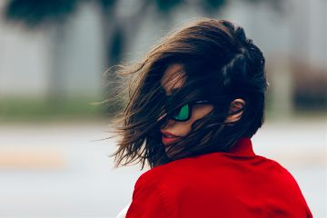 freetoedit girl portrait red sunglasses