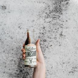 freetoedit hand bottle coffe object