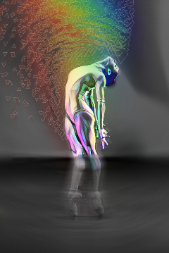 freetoedit radialblureffect rainbowmagiceffect sticker ballerina