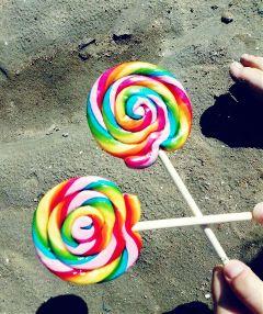 freetoedit lollipop lollies beach friends