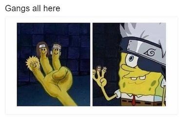spongebob naruto crossover