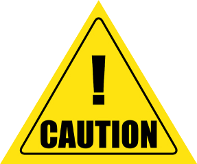 caution construction area triangle yellow