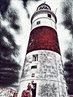 hdr painting lighthouse