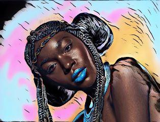 freetoedit colorful woman beauty myart
