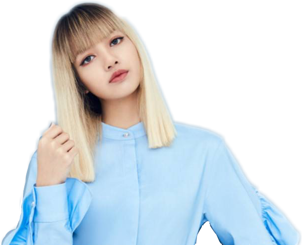 Lisa Blackpink Korea Cute Kawaiilisa Sky Blue Blondehai