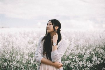 freetoedit girl people flowers nature