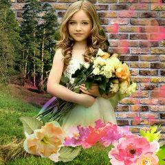 freetoedit girl flowers boutique background
