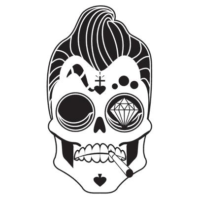 Skullart Sticker By Ettori Orlandini