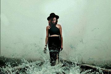 freetoedit water colorsplash woman wet
