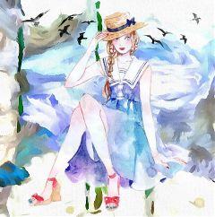 pastelcolor fantasy watercolor remixed freetoedit