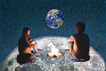 freetoedit fire earth moon
