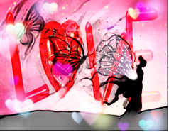 freetoedit highlightmagiceffect heartmask girl butterflies