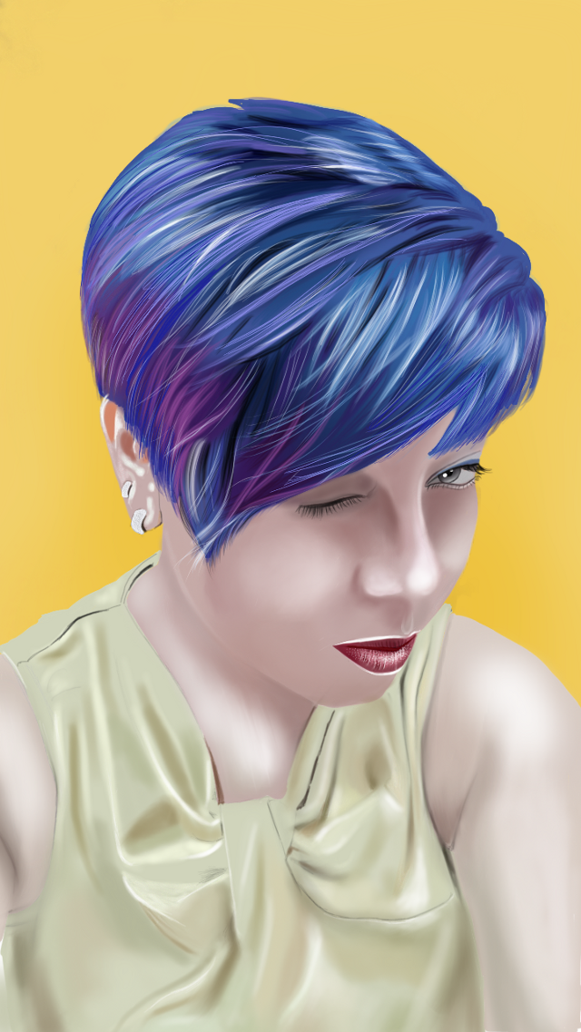 #drawing #painting #portrait #beautiful #hair #emotions #mydrawing