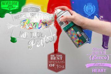 freetoedit positivity positivequotes spraycan colours