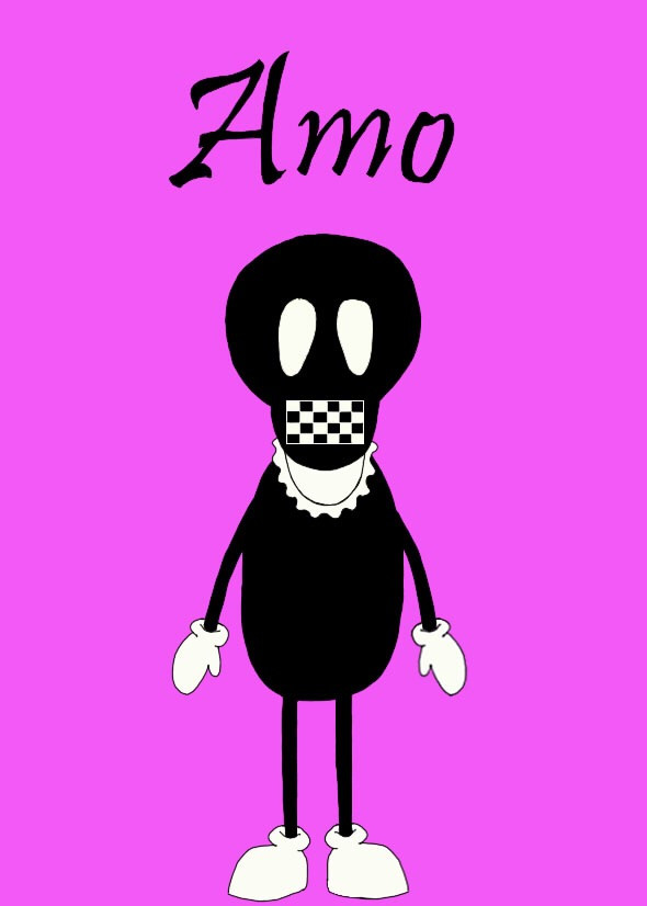GHOST MOB - Amo #art #artist #drawing #sketch #doodle #painting #illustration #illustrator #ghost #ghostmob #halloween #zombie #monster #skull #character #doll #artwork #color #follow #like