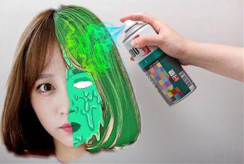 spraycanremix freetoedit goop spray green