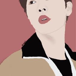 outline bts jin seokjin drawing