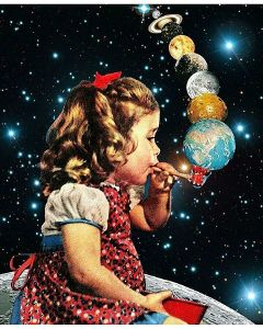 freetoedit space planets cosmos babygirl