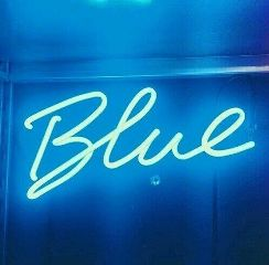 blue neon fluorescentlights sign aesthetic freetoedit