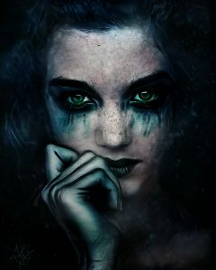 freetoedit galaxy dark woman