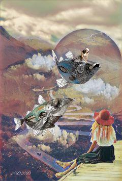 makeahatremix surreal myedit landscape freetoedit