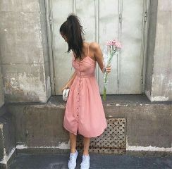 freetoedit pink flowers vintage dress