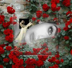 freetoedit flowers red beauty girl daydreamer