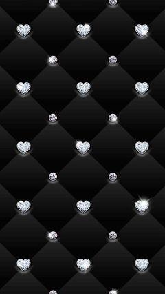 freetoedit wallpaper blac diamonds hearts