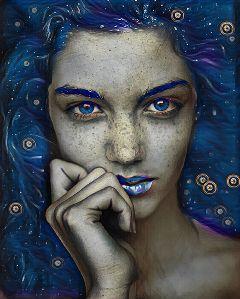 freetoedit midnightmagiceffect blueeyes bluelips