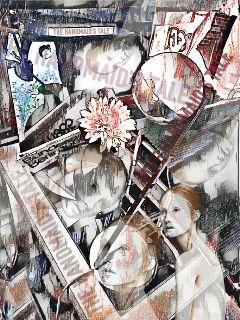 freetoedit collage magiceffect handmaidstale watercoloreffect