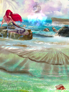 freetoedit sironsong mermaid ship fairytail