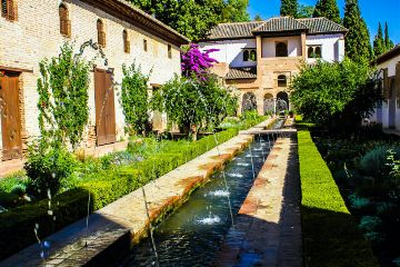 beautiful garden alhambra granada spain freetoedit