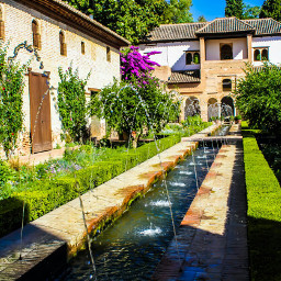 beautiful garden historicalplaces alhambra granada freetoedit