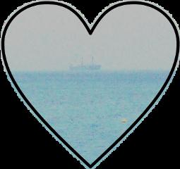 beach sea boat summer heart freetoedit