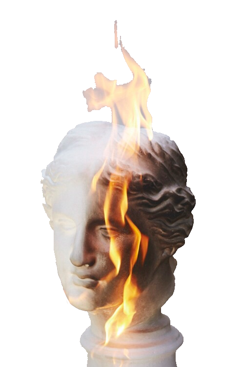Sculpture fire aesthetic vaporwave tumblr for Fire tumblr