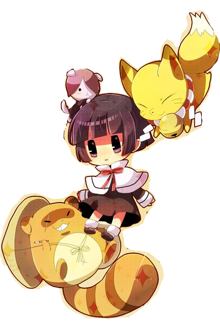 #gugurekokkuri #anime #girl #fox #racoon