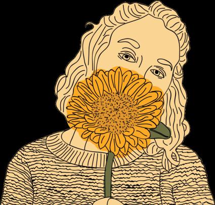 #yellow #amarillo #naranja #persona #people #girasol #flower #draw #dibujo #tumblr