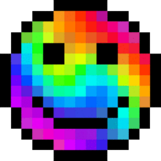 #happyface #pixel #colors