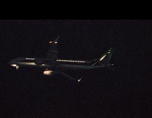 plane landing night nofilter italy