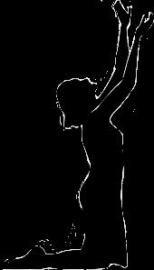 praying woman silouette freetoedit