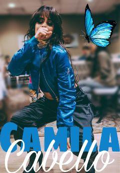 camilacabello blue butterfly camila cabello freetoedit