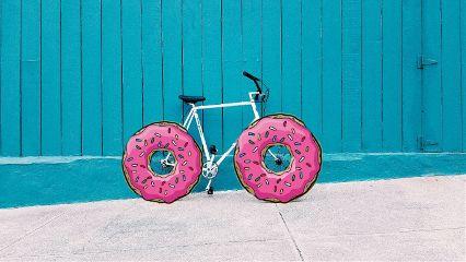 donuts bicycle remix stickers madewithpicsart freetoedit