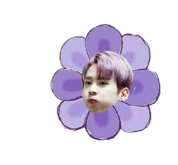 flower purple kawaii freetoedit